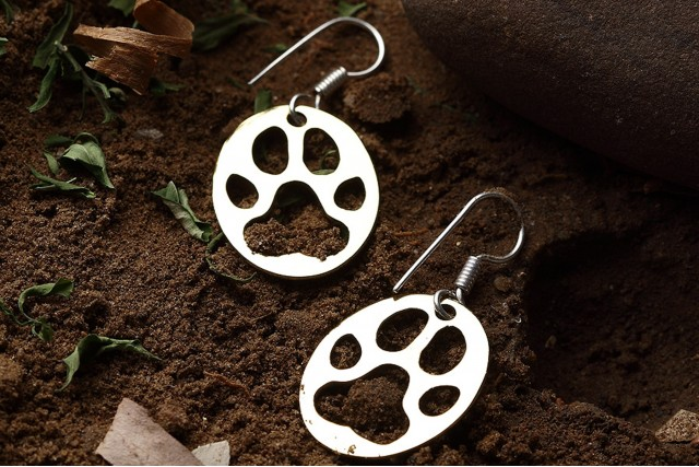 PUG MARKS - SILVER PLATED EARRINGS