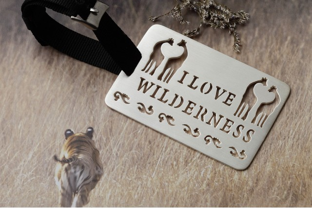 I LOVE WILDERNESS LUGGAGE TAG