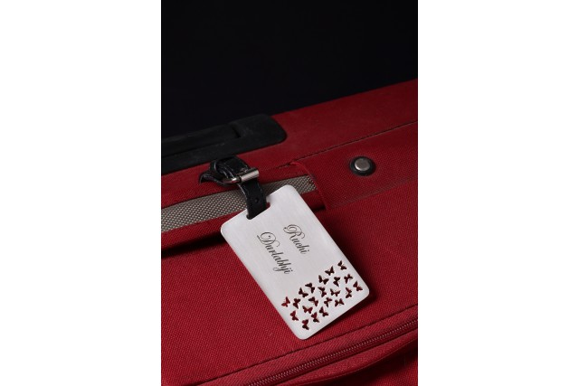 SILVER PALTED LUUGGAGE TAG